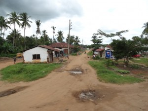 Rural town in Tanzania, Africa