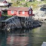 Red fishing cottage in Å