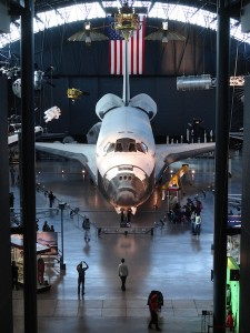 Discovery Space Shuttle Front View