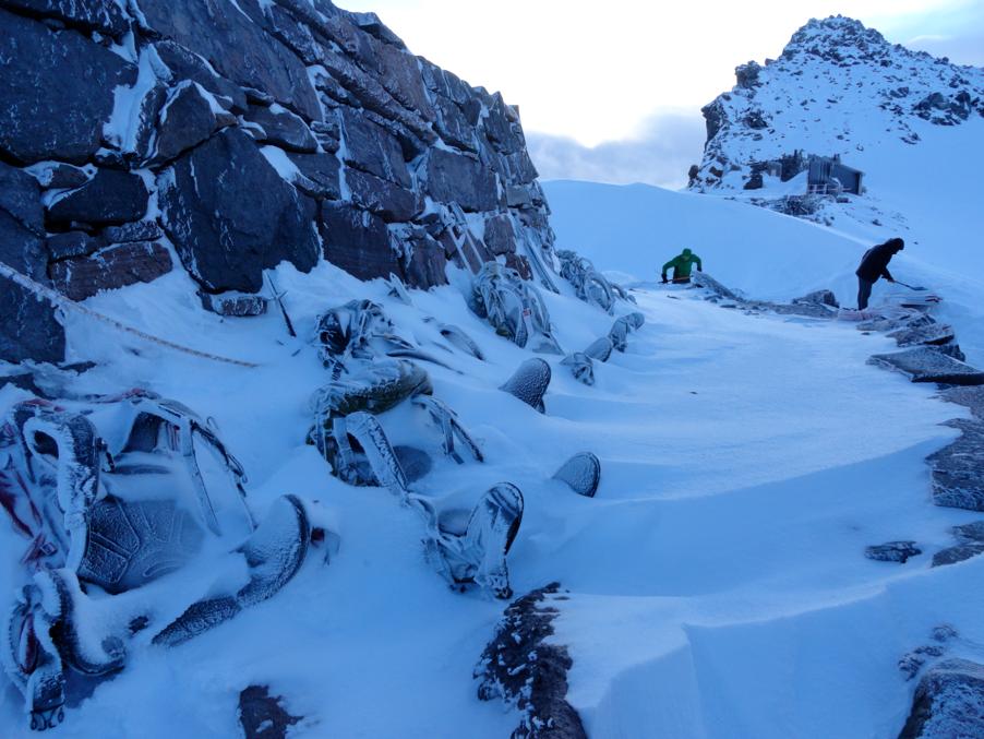 Snowstorm Camp Muir