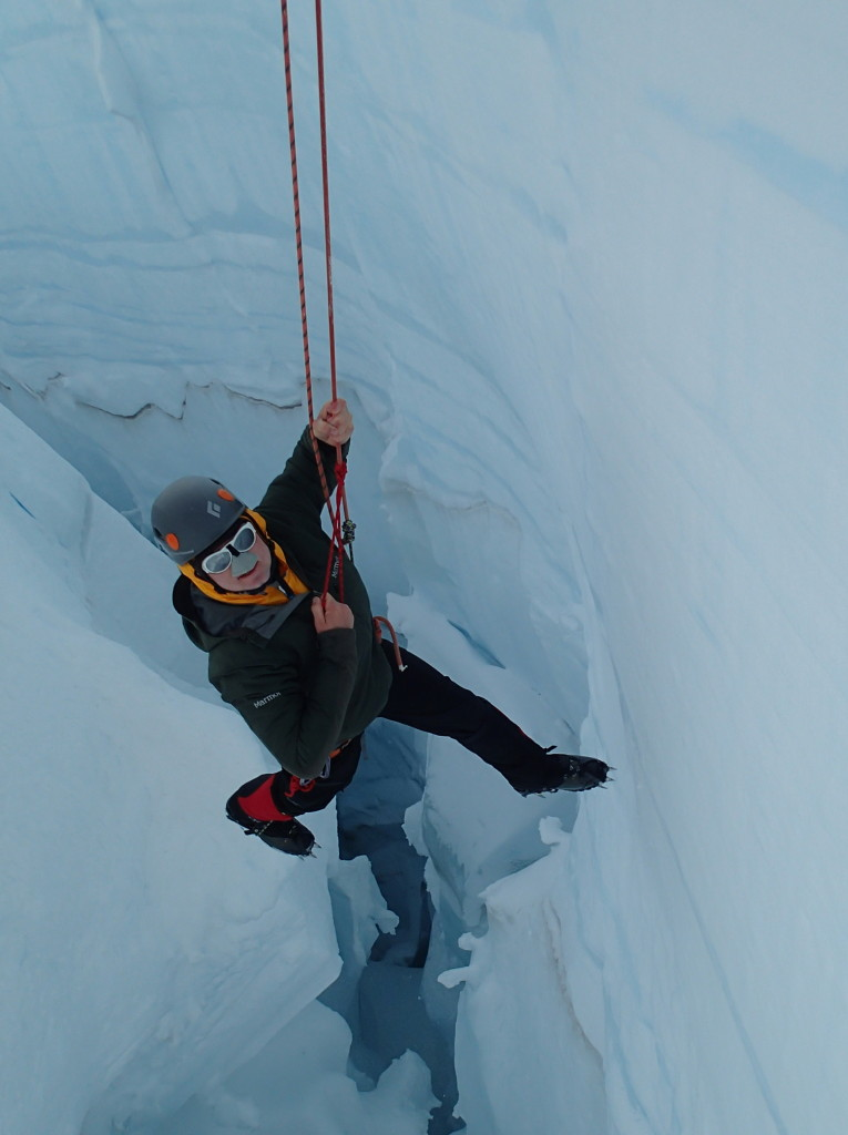 Luke Fostvedt in Crevasse