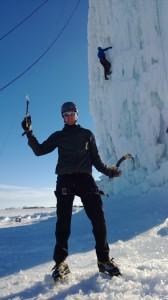 Luke Fostvedt Ice climbing