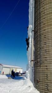 luke fostvedt silo ice climb