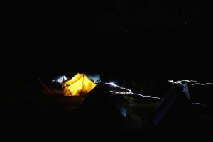 Jomolhari base camp night