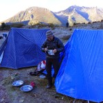 Bhutan trekking camp